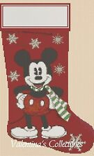 Counted Cross Stitch MICKEY'S CHRISTMAS STOCKING - COMPLETE KIT  #10-27