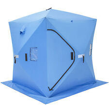 Ice Fishing Shelfter Tent Portable Pop Up Ice Fishing House Blue Waterproof