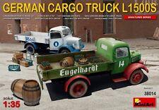 Deutsch Cargo Lkw L1500S MIN38014 - Miniart 1:35 MAßSTAB MODELL BAUSATZ