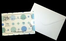 10 *CHRISTENING* Patterned Cards with Pre-Printed Vellum Inserts incl.Envelopes