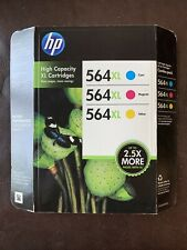 3-PACK HP GENUINE 564XL Color Ink (RETAIL BOX) for PHOTOSMART 6510 6520 6525