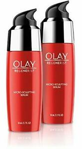 Olay Regenerist Micro-Sculpting Serum,Ultra-Lightweight, (1.7 FL OZ)Each, 2 pack