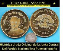 $1 PEDRO ALBIZU CAMPOS 1891 Patriota 1991 PUERTO RICO Nacionalista Ceiba Ponce