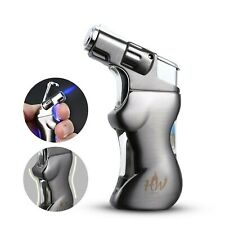 Jet Torch Cigar and Cigarette Lighter with Unique Sexy Woman Body, Butane Gas...