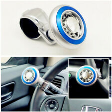 Car Ship Steering Wheel Quick Turn Booster Knob Power Spinner  Blue ABS Plastic