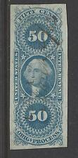 R60a,  Imperforate,  50-Cent,  Original Process,  Used