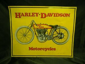 "Harley Davidson Motorcycles Metal Sign Vintage Classic 3D Embossed 15/""x13/"" Wings"