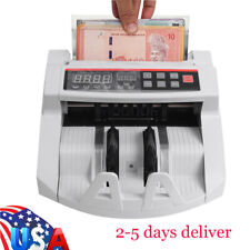 Auto Money Cash Counting Bill Counter Bank Counterfeit Detector UV MG Machine US