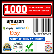 (1000) Original New Upc Ean Numbers Barcode Verified Codes Id For Amazon Listing