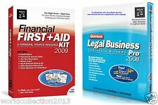 Quicken Legal Business Contracts/Forms Pro 2008 & Financial First + Aid Kit 2009
