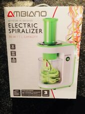 Ambiano Electric Spiralizer - 3 Stainless Steel Blades-Easy To Clean - 80W-Green