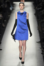 Yves Saint Laurent Couture Runway Royal Blue Bell-Silhouette Dress 44 NWT $1600