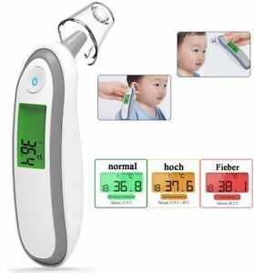 Fieber Thermometer 3 Farben LCD Display Digital Baby Erwachsene Ohren und Stirn