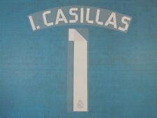 Spanish La Liga 2014-2015 Real Madrid #1 I. Casillas Awaykit NameSet Printing