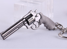Mini Revolver Pistol ​Weapon Gun Model Metal Keyring Keychain Key Ring Chain UK