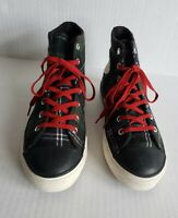 Converse Youth Kids US 3 Plaid High Tops All Star chuck Taylor Blue Green