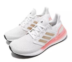 NWT Adidas Ultraboost 20 W [EG0724]Women Crystal White Copper Metallic Pink Sz 7