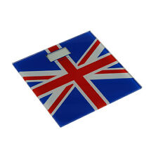 Electronic Union Jack LCD 200kg Bathroom Weight Weighing Scale Tempered Glass