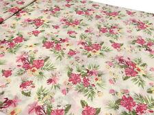 Sustancia viscosa Jersey flores presión wollweiß turquesa rosa pink verde marrón