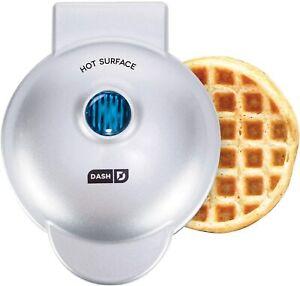 Dash Mini Waffle Maker Machine Individual Waffles Paninis Hash browns SILVER NEW