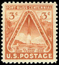 Scott # 976 - 1948 - ' Ft. Bliss & Rocket '