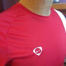 Nike Red Black White Crewneck Mens Athletic Short Sleeve Shirt M Euc D568 Box 59