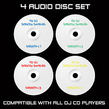 CD DJ SCRATCH SAMPLES - 4 AUDIO DISC SET : CDJ : TRAKTOR : SERATO : DVS