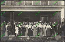2 Antique RPPC Photo Postcards JOHNSTOWN OHIO c1912 People Fashions CIVIC PRIDE