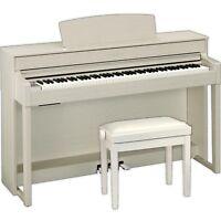 Yamaha Clavinova CLP-545 WA: Digitalpiano (Esche weiß) mit Burghardt-Klavierbank