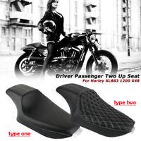 Two-Up Siège Selle de moto Coussin Pour Harley Sportster 883 Custom XL883 04-17
