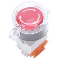 Interruptor de boton pulsador rojo de proteccion cubierta claro contacto au N9W7