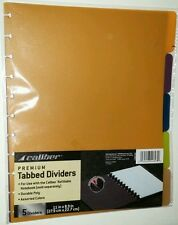 Caliber Premium Discbound Dividers 5 Color Tab For 8.5 x 11 Caliber Notebook