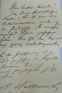 Actor Adalbert Matkowsky (1857-1909): Signed Letter From 1896/Theatre