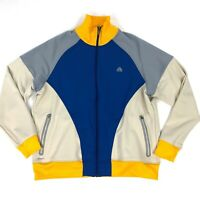 Nike Fit ACG Therma Track Jacket Size XXL Mens Yellow Blue Full Zip 2XL
