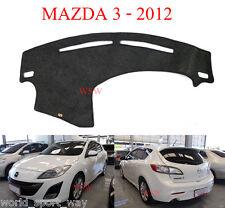 Charcoal Dash Mat NON SLIP For Mazda 3 BL Series 2009-2013 DASHMAT 2010 2011 12
