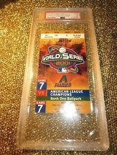 Arizona Diamondbacks New York Yankees 2001 World Series MLB Ticket Stub GM 7 PSA
