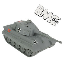 BMC WW2 German King Tiger II Tank - Gray 1:32 Scale Vehicle for Plastic Army Men