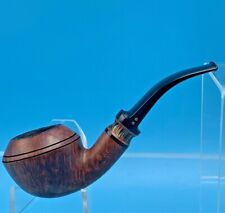 RADICE BENT RHODESIAN FLAME GRAIN DOUBLE DOT PIPE G O VINTAGE