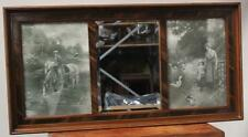 Vintage English Brass Overmantel Mirror - FREE Delivery [PL2532]