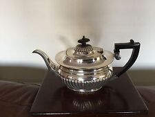 Lovely Silver Plated Tea Pot With a half ribbed Design (sptP 5986) Apex