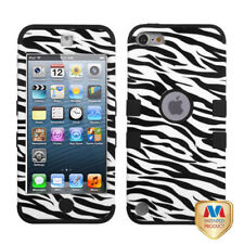 For iPod Touch 5 5th Gen Rubber IMPACT TUFF HYBRID Case Skin Cover Zebra