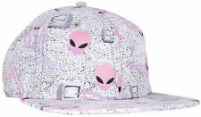 CRSHR Techno Alien Party Fun Novelty Rave Summer Spring Break Sun Hat Grey/Pink