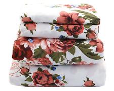Beautiful Bedding Super Soft Comfort Floral 6 pcs Sheet Set Burgundy Floral