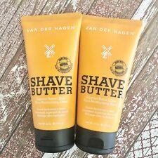 Van Der Hagen Shave Butter Shaving Cream 6oz Shea Mango & Cocoa Butter Lot of 2