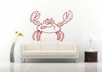 Wall Vinyl Sticker Decals Mural Room Design Art Crab Ocean Fish Sea Decor bo714