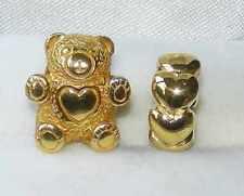 * Nuovo * 2 x Rhona Sutton GP Sterling Silver Charm Perline-Love Bear, anello CUORE