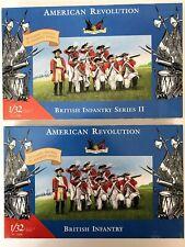 IMEX 1/32 American Revolution British Infantry Series I & II #3200 & #3208 Lot