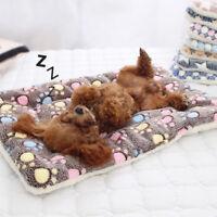 Soft Flannel Pet Mat Thicken Warm Cat Dog Puppy Bed Blanket Sleeping Cushion sm