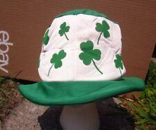 ST. PATRICK'S DAY hippie hat Celtic Mad Hatter rave cap Irish novelty Shamrocks