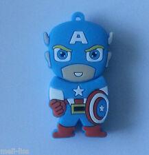 8 GB Avengers Cool Captain America Toy Cartoon Memory Stick  USB  Flash Drive